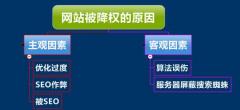 SEO网站优化中十二种降权原因