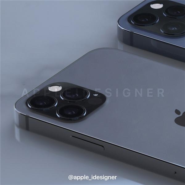 iPhone 12 Pro系列最新外形渲染图曝光:浴霸三摄+LiDAR设计没跑了