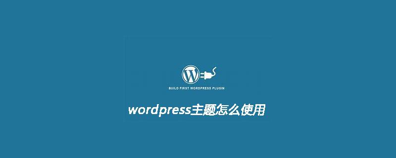 wordpress主题怎么使用呢