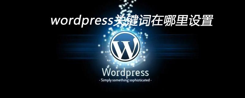 wordpress关键词在哪里设置