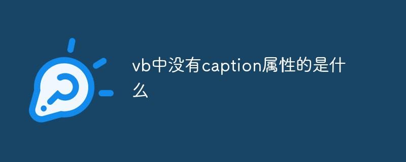 vb中没有caption属性的是什么