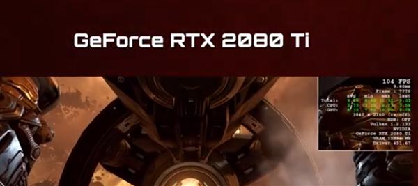 《毁灭战士:永恒》4K分辨率下光追RTX 3080实机测试:碾压2080 Ti