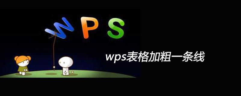 wps表格加粗一条线