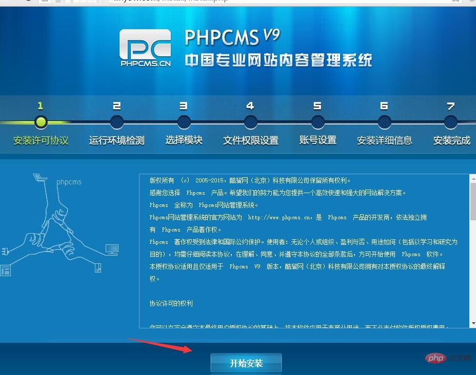PHPCMS 下载之后怎么安装?