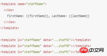 微信小程序之template模板介绍