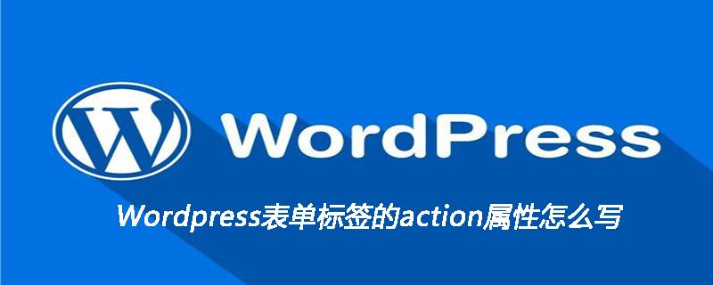 Wordpress表单标签的action属性怎么写
