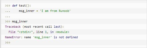 云计算开发学习笔记:Python3 作用域