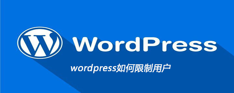 wordpress如何限制用户