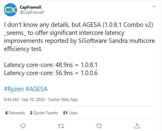 AMD锐龙有新BIOS了:内核延迟大幅降低、加速频率更猛