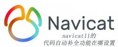 navicat11的代码自动补全功能在哪设置