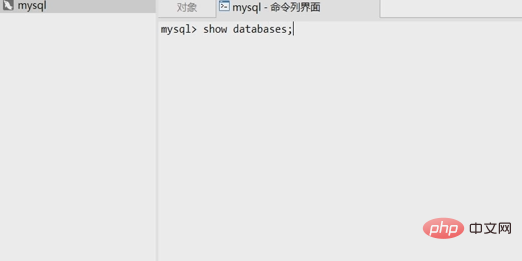 navicat premium中如何输入命令