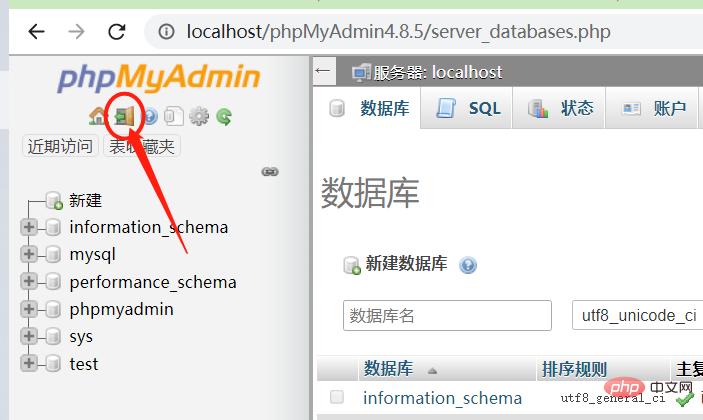 phpMyAdmin怎么登出
