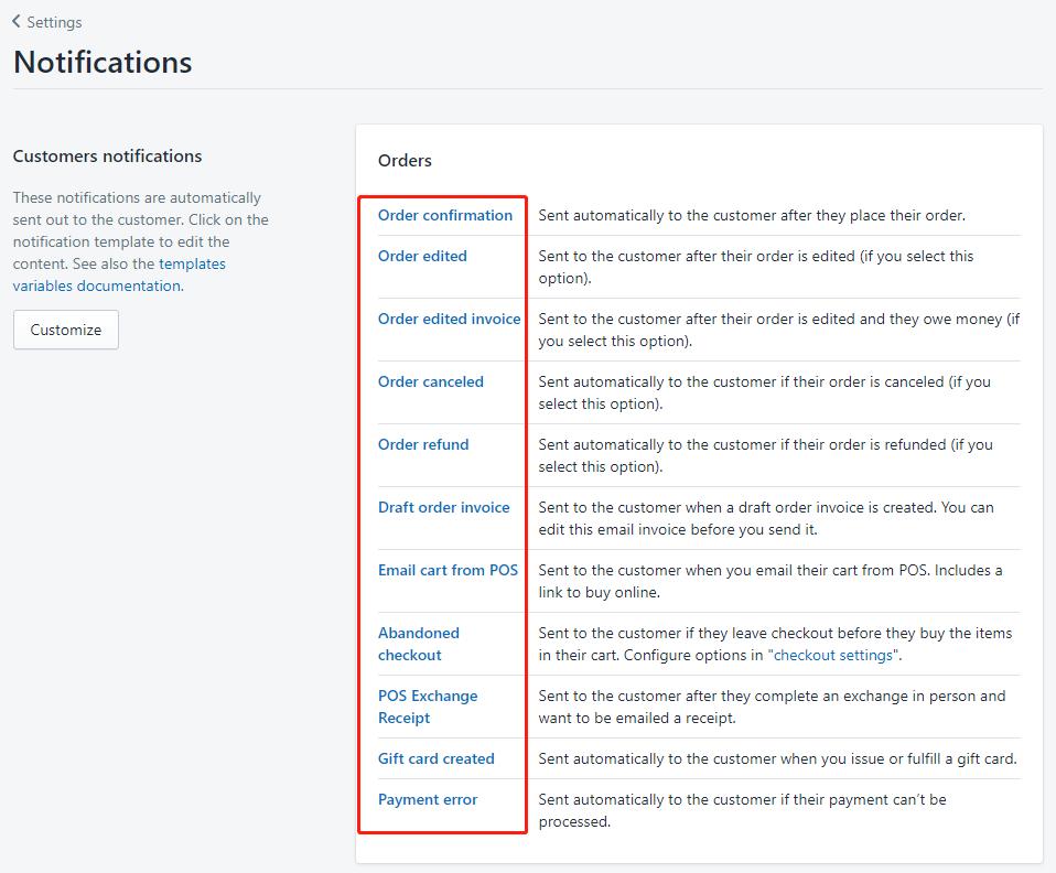 定制shopify后台邮件模板