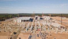 特斯拉柏林超级工厂建设规模扩大 3栋建筑主体结构已成型