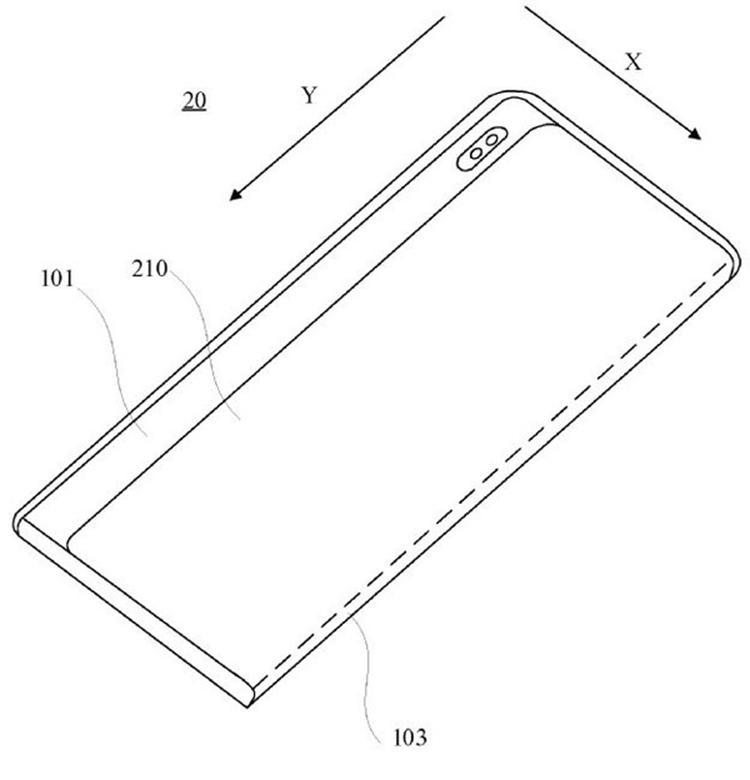 小米手机新型柔性屏专利图公布,屏幕可进行伸缩与滑动