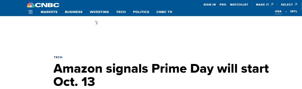 亚马逊Prime Day即将到来,VC账号又搞大动作?