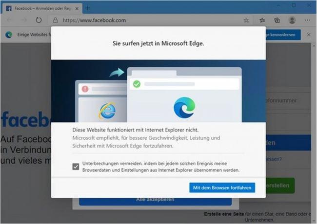 IE浏览器无法加载网站时将自动跳转到Edge中打开