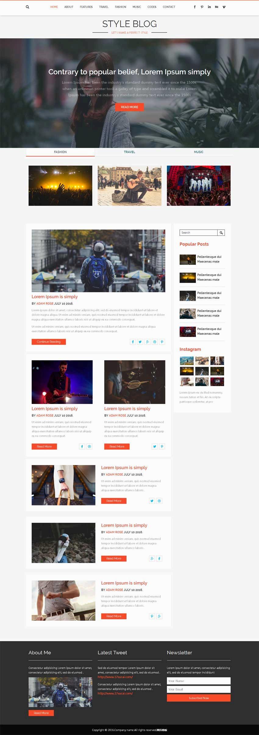 推荐几个个人精美网站响应式html5网站模板