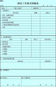 会计移交清单模板范文(企业会计工作交接清单)