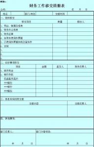 机关单位财务交接清单模板(新手会计交接注意事项有哪些)