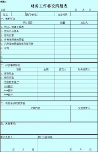 现金会计交接清单模板(会计交接清单表格及处理汇总)