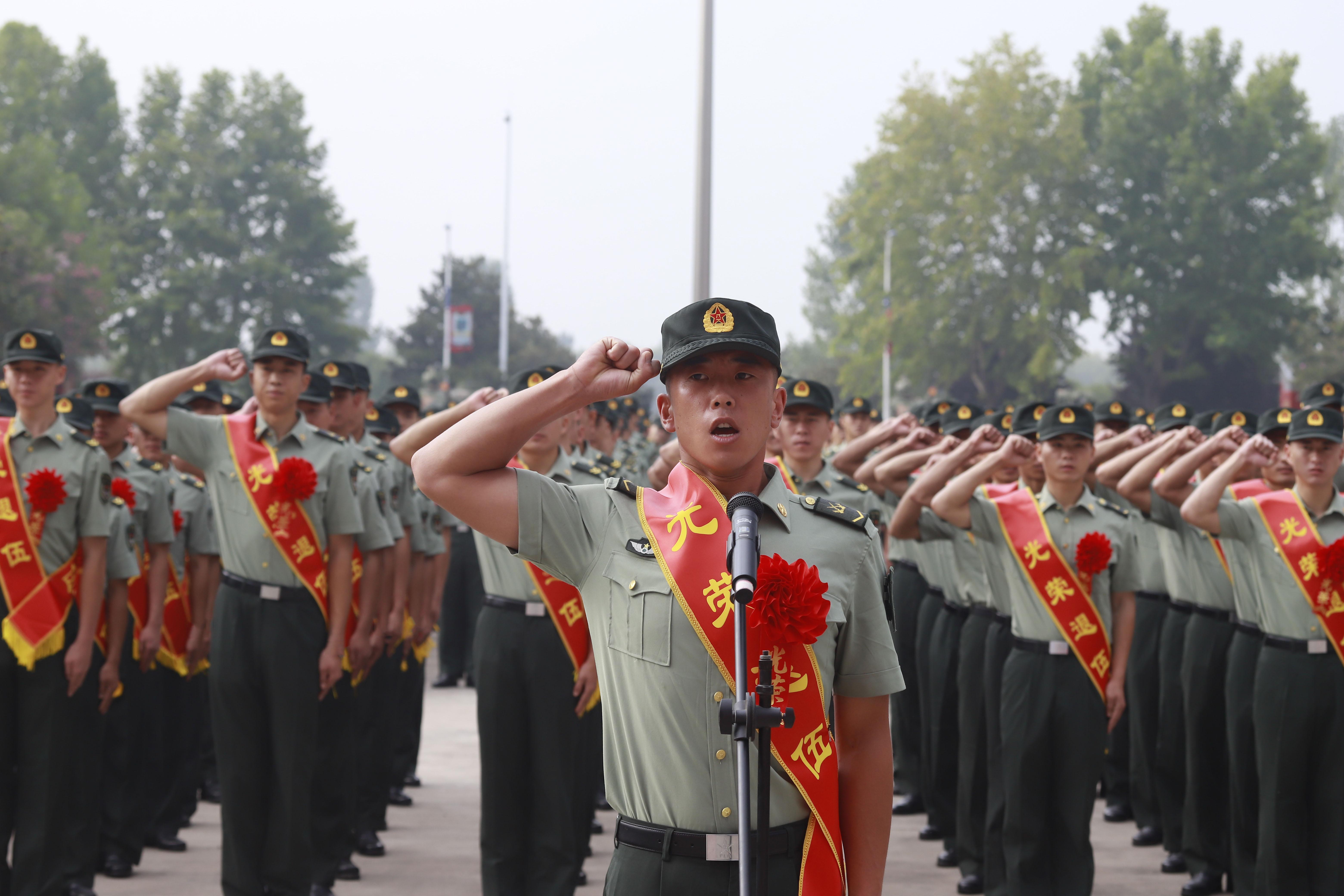 向军旗告别,若有战,召必回
